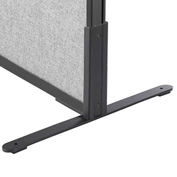 "Interion™ 8""H T-Leg Bracket for Office Partition Panels, Black (1 Pair)"