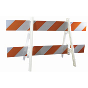 Traffic Barricade A-Frame 6 Ft. With 2 Rail