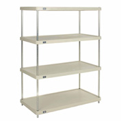 "Plastic Shelving Unit 36""Wx18""Dx74""H Solid Shelf"