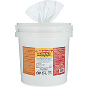 2XL CareWipes No Rinse Food Surface Sanitizing Wipes Bucket- 500 Wipes/Roll - 2/Case - 2XL-445