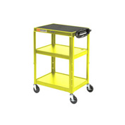 Yellow Steel Audio Visual & Instrument Cart