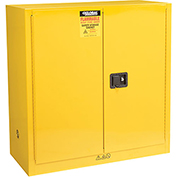 "Global™ Flammable Liquid Cabinet - 30 Gallon - Manual Close Double Door - 43""W x 18""D x 44""H"