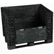 Buckhorn Folding Bulk Shipping Container - BI4840392010000 - 48x40x39 1600 Lbs. Black