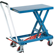 Best Value Mobile Scissor Lift Table 550 Lb. Capacity - Single Scissor - 32 x 19 Platform