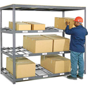"Carton Flow Shelving Single Depth 3 LEVEL 96""W x 48""D x 84""H"