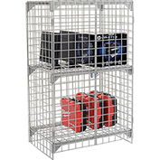Wire Mesh Security Cage - Ventilated Locker -  36 x 24 x 60