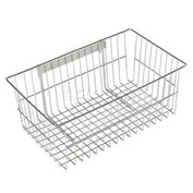 "Chrome Wire Utility Basket 18-3/4""W x 11-1/4""D x 7-1/2""H - Chrome"