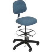ESD Stool - Fabric - Pneumatic - Blue