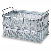 "MID-WEST WIRE Basket - 24x13-1/4 x6 - Zinc-Plated - -1/2"" Mesh Sides and Bottom"