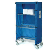 "60""W x 18""D x 63""H Blue Nylon Cover"
