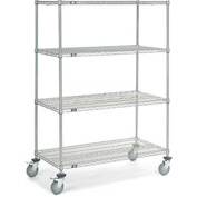 Nexel® Chrome Wire Shelf Truck 48x24x69 1200 Pound Capacity