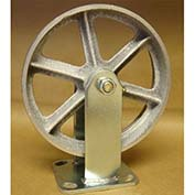 "Semi-Steel Casters 8"" x 2"" (2 Swivel, 2 Rigid) for Wright Self-Dumping Hopper"