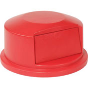 Dome Lid For 44 Gallon Round Trash Container - Red