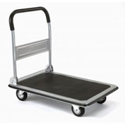 Folding Platform Truck with 28 x 18 Solid Steel Deck 400 Lb. Capacity