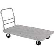 Structural Foam 60 x 30 Plastic Deck Platform Truck with 4 Wheels 2000 Lb. Capacity