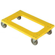 "Plastic Dolly with Flush Deck 5"" Casters 1200 Lb. Capacity"