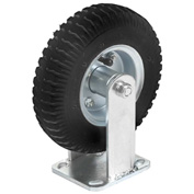"Rigid Plate Caster 6"" Full Pneumatic Wheel 200 Lb. Capacity"