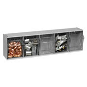 Quantum Tilt Out Storage Bin QTB305- 5 Compartments Gray