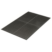 Grease Resistant 3x10 1/2 Thick Drainage Mat Black
