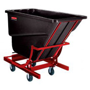 Rubbermaid® FG105943BLA 1 Cu. Yd. Self Dumping Hopper with Caster Base