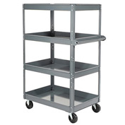 Edsal ST8000 Multi-Level Steel Shelf Truck with 4 Shelves