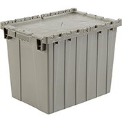 Plastic Storage Container - Attached Lid DC2115-17 21-7/8 x 15-1/4 x 17-1/4 Gray