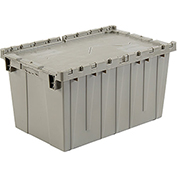 Plastic Storage Container - Attached Lid DC2515-14 24-1/2 x 14-7/8 x 13-3/4 Gray