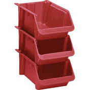 "LEWISBins Fiberglass Hopper Bin SH2411-8 Stack And Nest 24""L x 11-1/2""W x 8""H Red - Pkg Qty 5"
