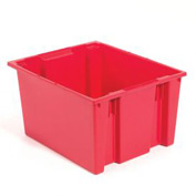 Stacking & Nesting Totes - Shipping SNT300 No Lid 29-1/2 x 19-1/2 x 15, Red - Pkg Qty 3
