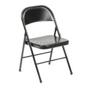 Steel Folding Chair - Black - Pkg Qty 4