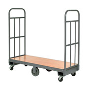 Best Value Wood Deck Narrow Aisle High End U-Boat Platform Truck 60 x 24 1500 Lb. Capacity