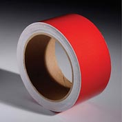 "INCOM® Safety Tape Reflective Solid Red, 2""W x 30'L, 1 Roll"