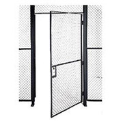 Husky Rack & Wire EZ Wire Mesh Partition Hinged Door - 3'Wx8'H