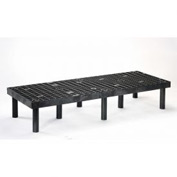 "Plastic Dunnage Rack with Vented Top 66""W x 24""D x 12""H"