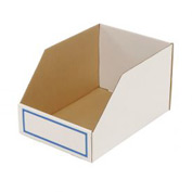 "Foldable Corrugated Shelf Bin 11-3/4""W x 17-1/2""D x 10""H, White - Pkg Qty 27"