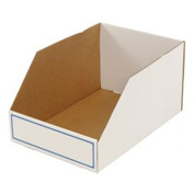 "Foldable Corrugated Shelf Bin 15-3/4""W x 23-1/2""D x 12""H, White - Pkg Qty 27"