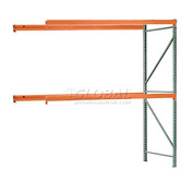 "Interlake Mecalux Pallet Rack Tear Drop Add-On 120""W x 36""D x 120""H"