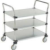 Nexel® Galvanized Steel Utility Cart 3 Shelves 36x24