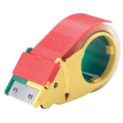 "Self Stick Tape Dispenser With Retractable Blade Durable Plastic 2"" Tape Width"