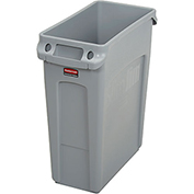 Rubbermaid® Slim Jim® 1971258 Recycling Container, 16 Gallon - Gray