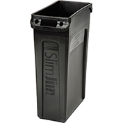 Rubbermaid® Slim Jim® 3540 Recycling Container, 23 Gallon - Black