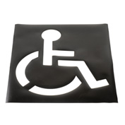 Handicapped Parking Lot Stencil