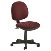 Office Chair - Fabric - Mid Back - Burgundy