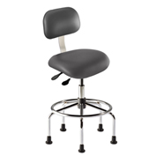 "BioFit Manager Chair Height 25 - 32"" - Navy Fabric - Chrome Metal"