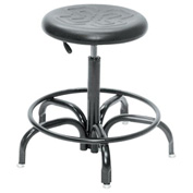 BioFit Ergonomic Stool - Black Polyurethane Seat - Seat Height Range 24 - 31""