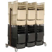 Folding Chair Cart -- Double Sided, Double Tier