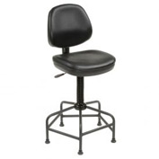 Antimicrobial Stool - Vinyl - Black