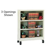 "Sandusky Steel Mobile Bookcase 36""W x 18""D x 36""H - Putty"
