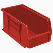 Quantum Plastic Stacking Bin QUS230 5-1/2 x 10-7/8 x 5 Red - Pkg Qty 12
