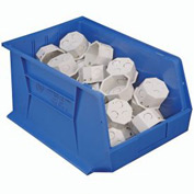 Quantum Hanging & Stacking Storage Bin QUS260 11 x 18 x 10 Blue - Pkg Qty 4